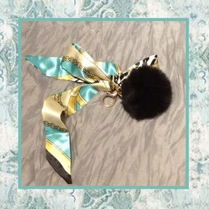 Unique Styles silk fur keychain